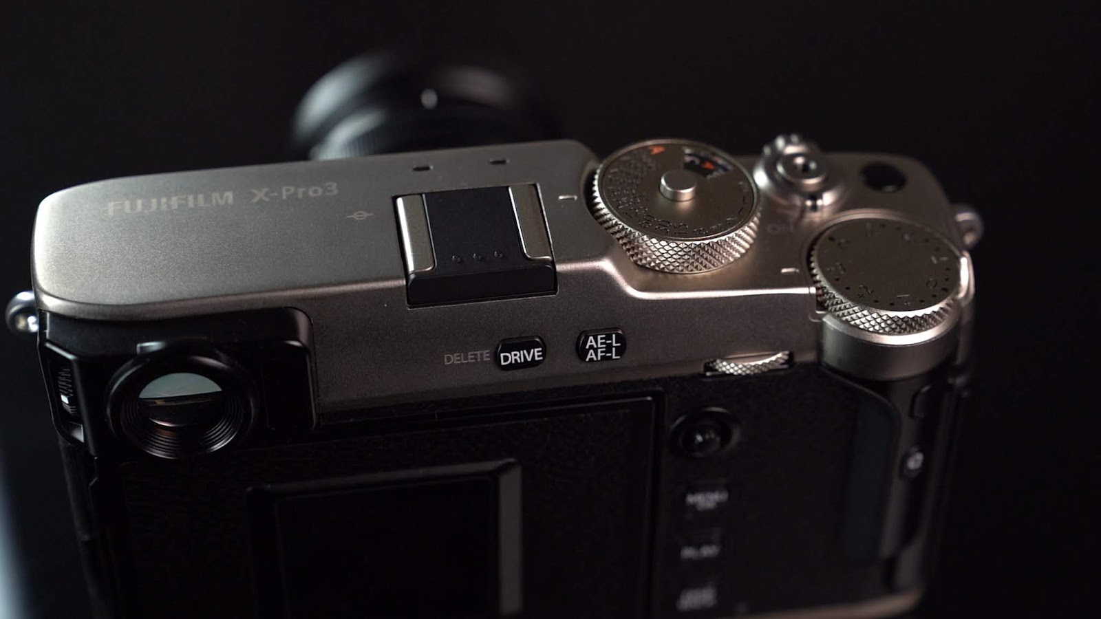 Top plate of the Fujifilm X-Pro 3