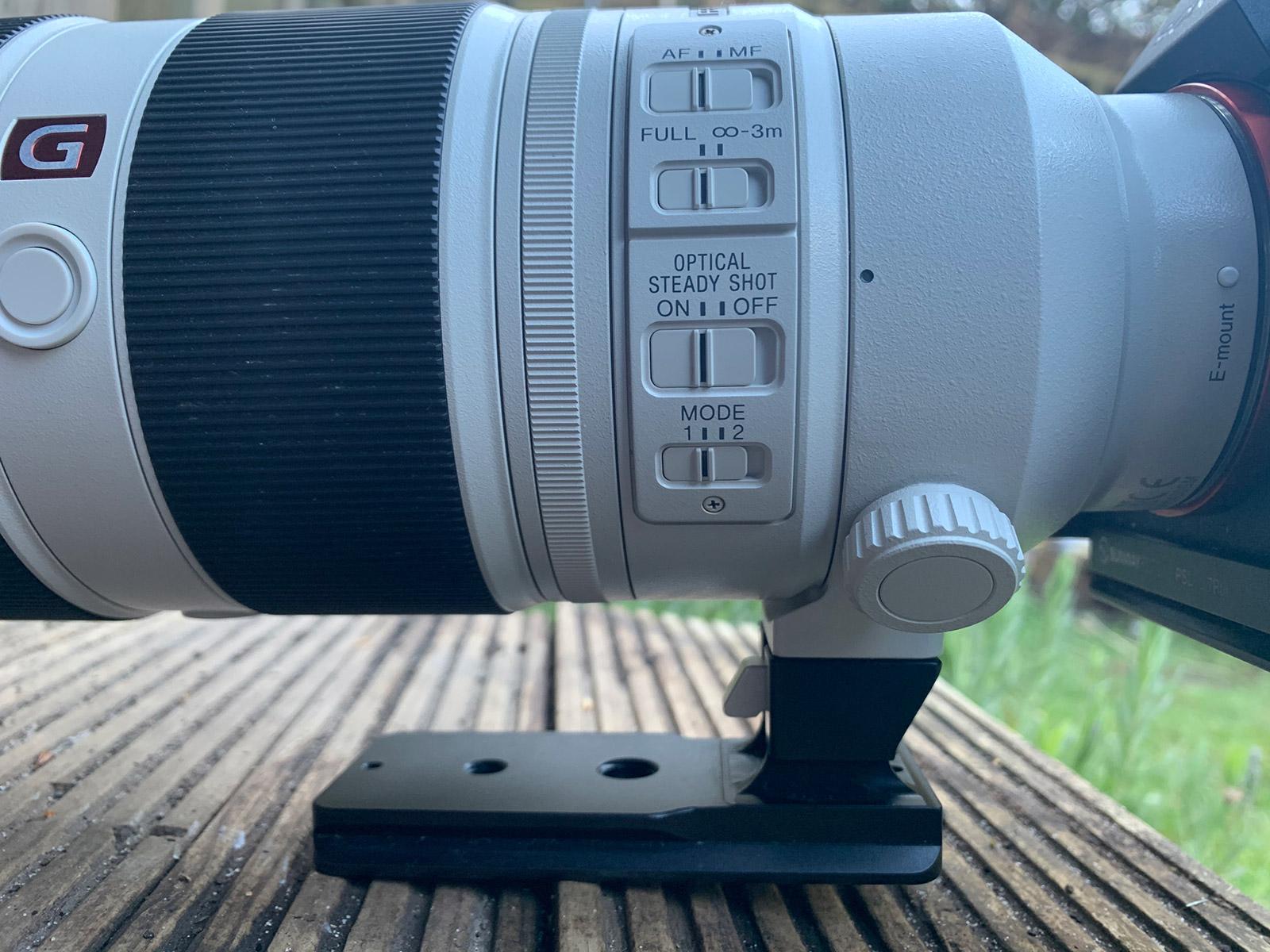 Controls on lens barrel Sony 100-400mm lens