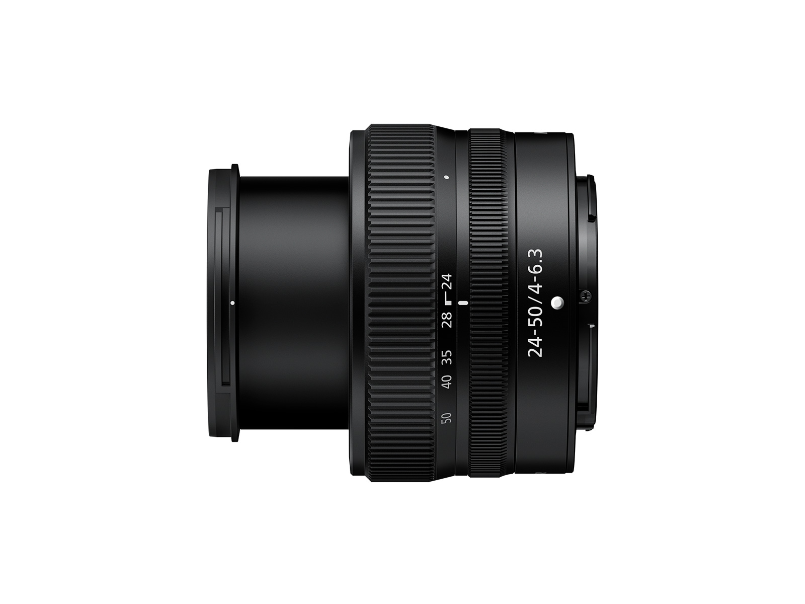 Showing lens extension for Nikon 24-50mm