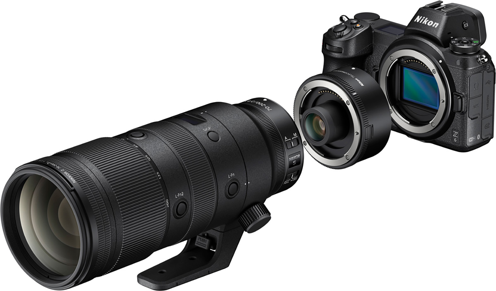 Nikon 70-200mm Z lens with TC
