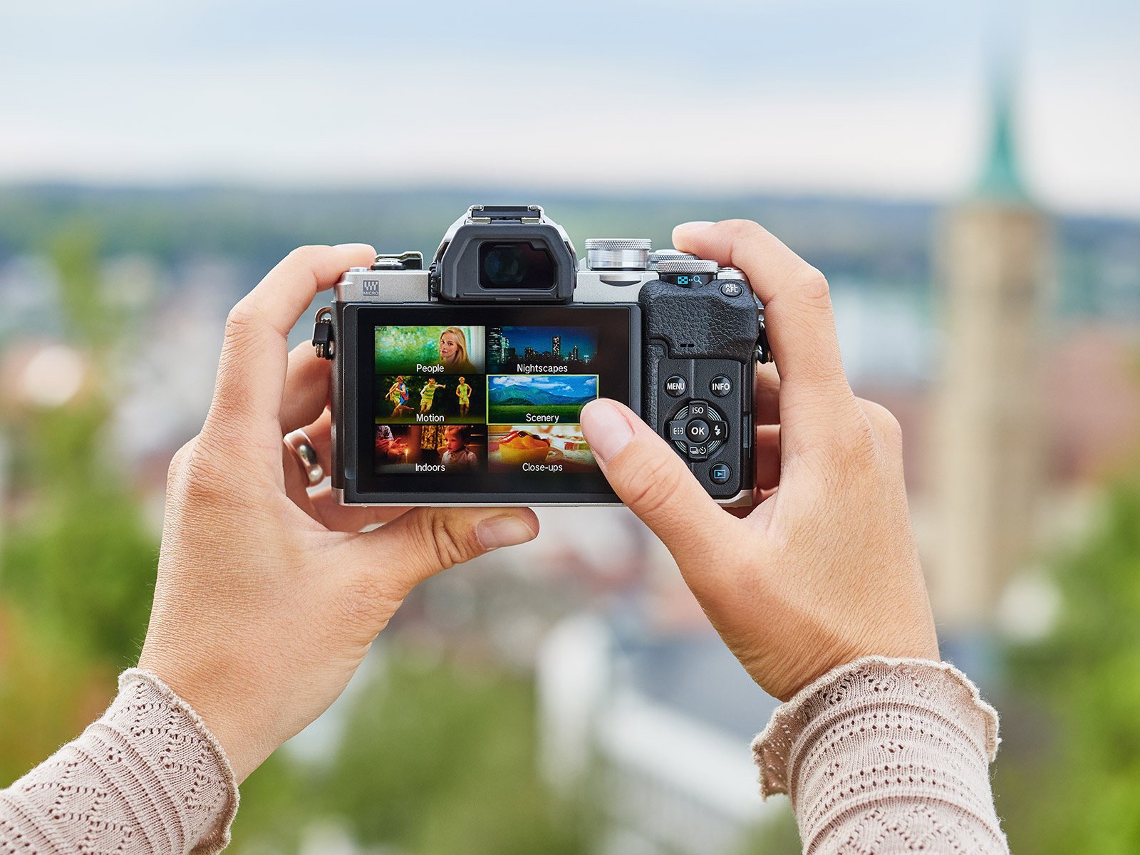Easy shooting scenes system on the OM-D E-M10 mark IV