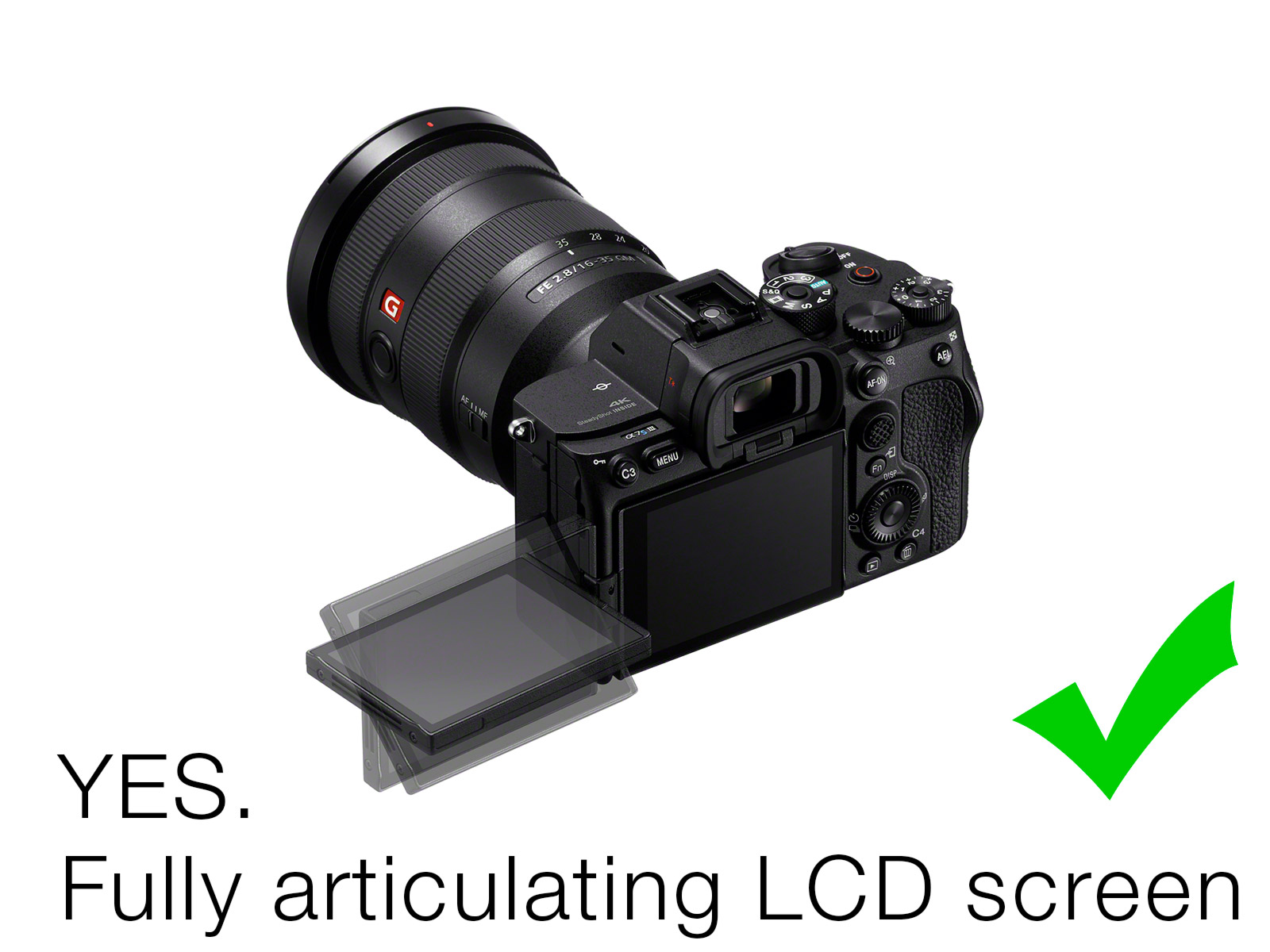 The A7S III has an articulating screen - Sonys first ever