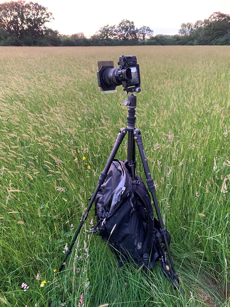 Using a Lee Filter system on a travel tripod