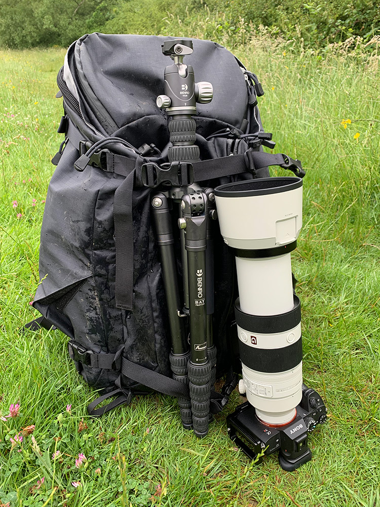 Perfectly sized for a camera bag and as long as a lens