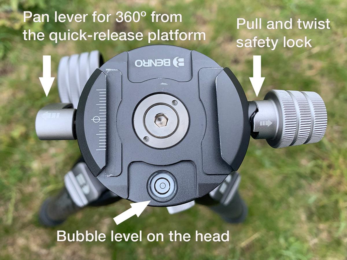 Benro GX35 ball head features