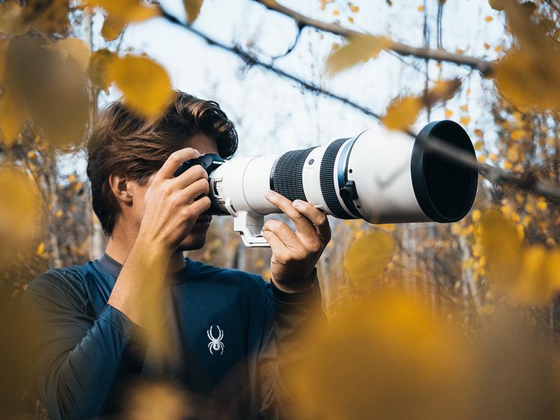 Enjoying nature photography