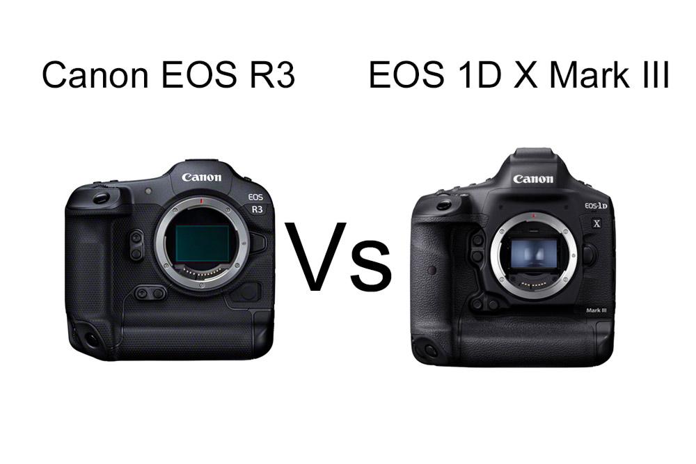 Canon EOS R3 vs EOS 1D X Mark III Specs and more