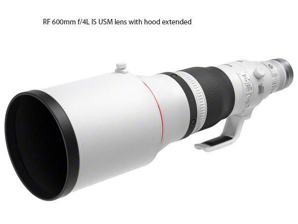The huge lens hood for the RF 600mm f/4L IS USM lens