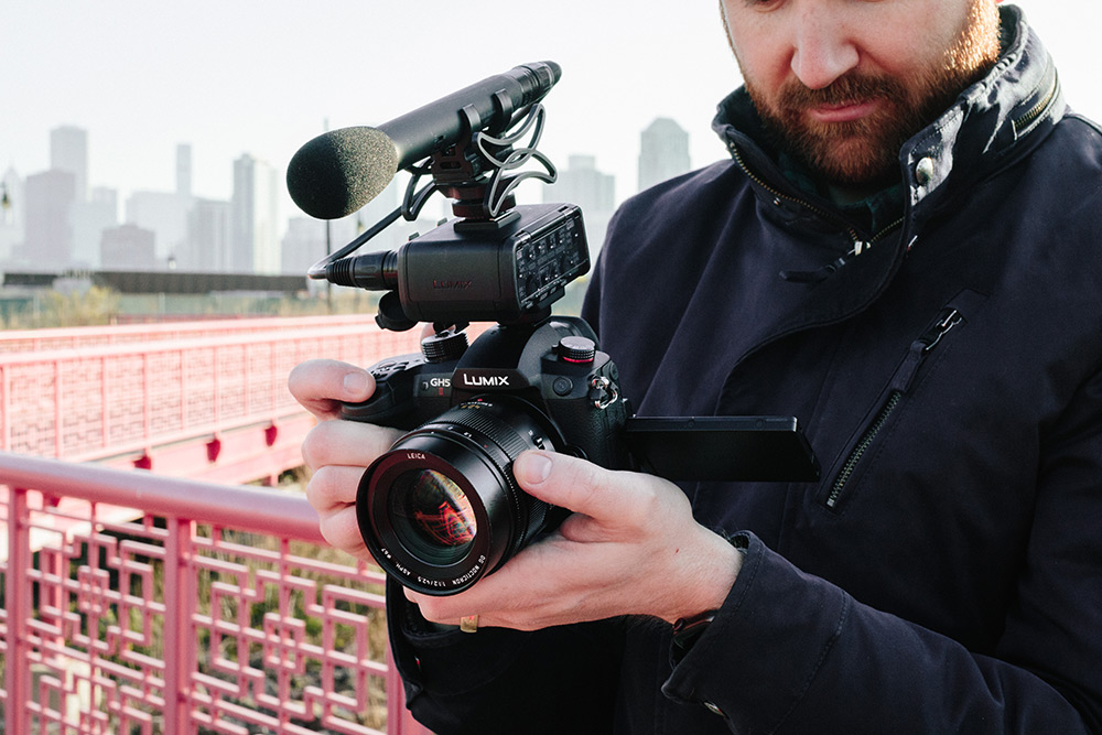 Using the XLR adapter for video audio
