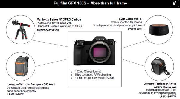 Fujifilm GFX100S camera accessories
