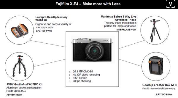 Best accessories for Fujifilm X-E4 camera