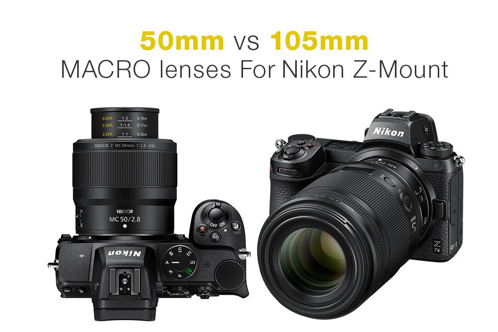 Nikon Z Mirrorless macro lenses compared