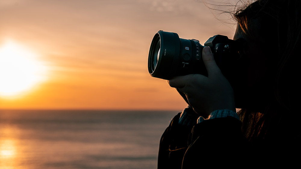 Lens in use at sunset