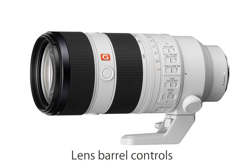 Lens barrel controls with new modes