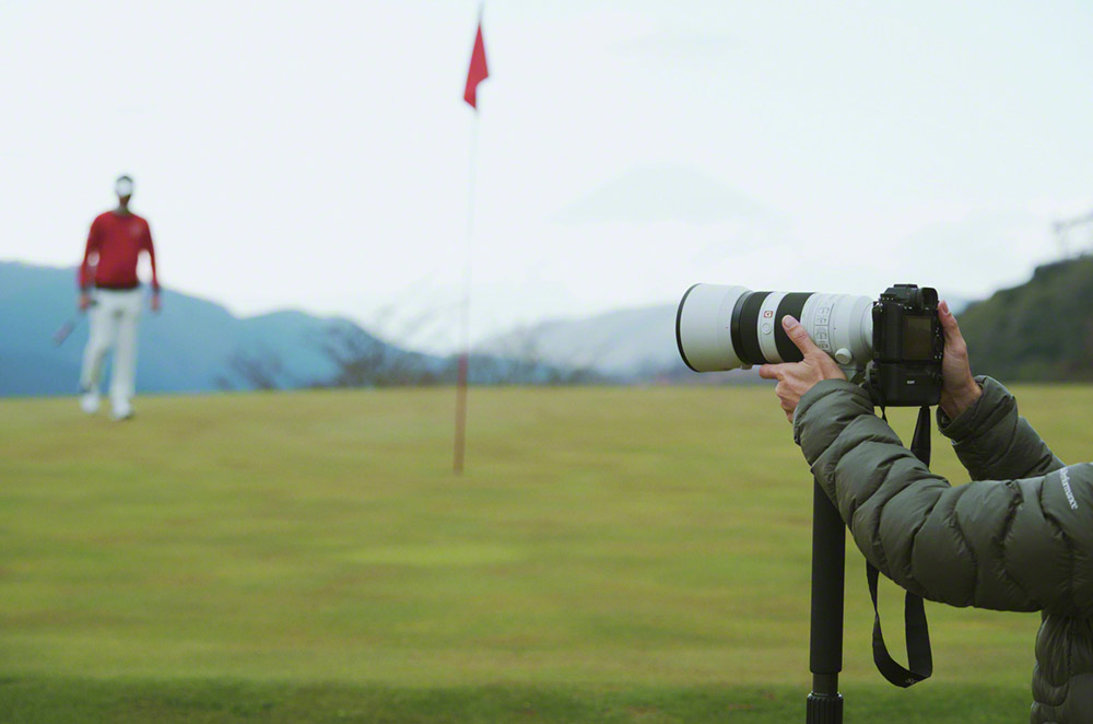 Pro golfing with the Sony A1