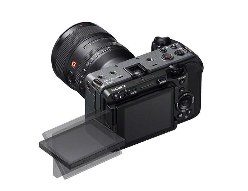 Vari angle LCD touchscreen on the Sony Cinema camera