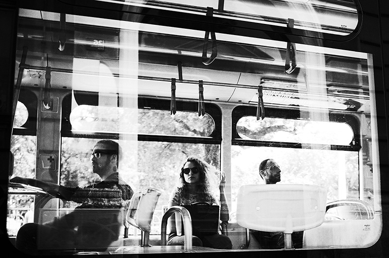 Bus portraits candid street photo