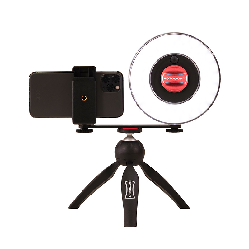 Lighting kit for home vlogging and video