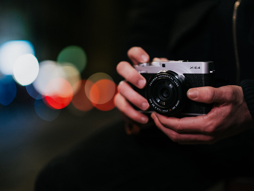 Beautiful Fujifilm X-E4 in use outside