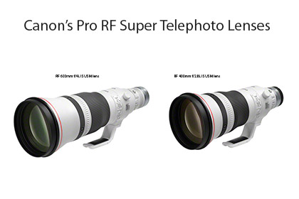 Canon Pro RF Super Telephoto Lenses