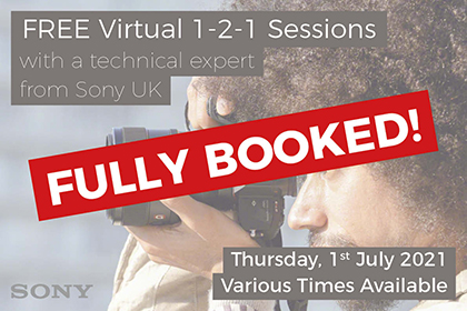 FREE Virtual 1-2-1 sessions with Sony UK