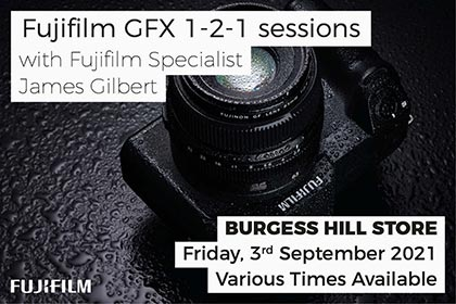 Fujifilm GFX 1-2-1 session at Park Cameras: Burgess Hill