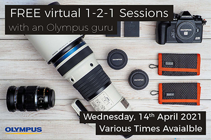 Free virtual 1-2-1 sessions with an Olympus Guru