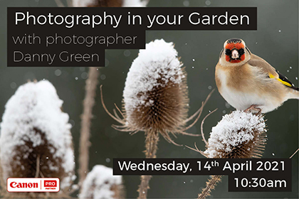 Photography in your Garden; with photographer Danny Green