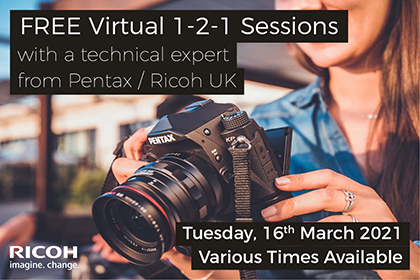 Free virtual 1-2-1 sessions with Pentax and Ricoh