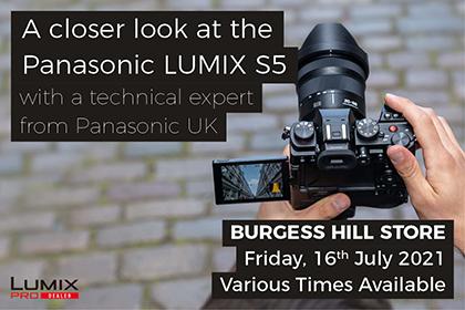 A closer look at the Panasonic LUMIX S5 - Burgess Hill