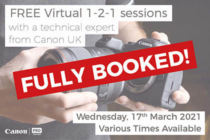 Canon Virtual 1-2-1 Sessions