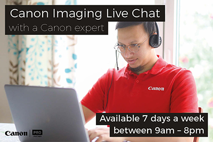 Canon Imaging Live Chat