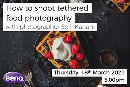 How to shoot tethered food photography with Solli Kanani