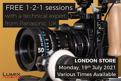 FREE in-store 1-2-1 sessions with Panasonic: London