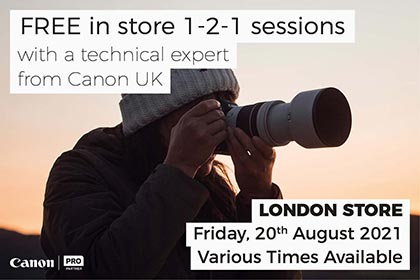 FREE IN-STORE 1-2-1 SESSIONS WITH CANON