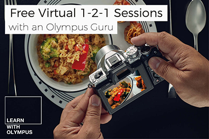 Free Virtual 1-2-1 Sessions with an Olympus Guru