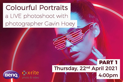 Colourful Portraits - a LIVE photoshoot with photographer Gavin Hoey