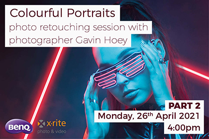 Colourful Portraits - photo retouching session with photographer Gavin Hoey
