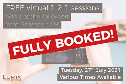 Free virtual 1-2-1 sessions with an imaging specialist from Panasonic UK