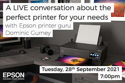 A live conversation about the perfect printer for your needs