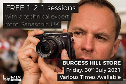 FREE in-store 1-2-1 sessions with Panasonic: Burgess Hill