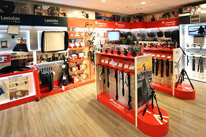 New Manfrotto Touch And Try Area In-Store at Burgess Hill
