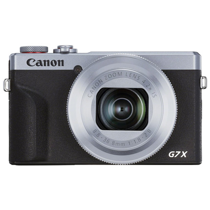 Canon PowerShot G7 X III Silver Compact Camera Dual Battery Kit
