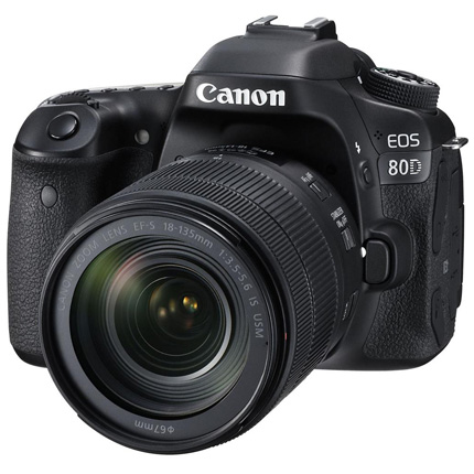 Canon EOS 80D Digital SLR with EF-S 18-135mm f/3.5-5.6 IS USM Lens