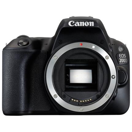 Canon EOS 200D DSLR Camera Body in Black