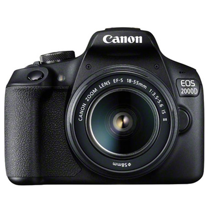 Canon EOS 2000D Digital SLR Body With EF-S 18-55mm IS II Lens Kit