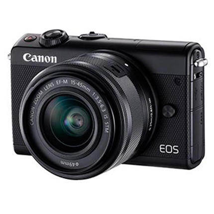 Canon EOS M100 Body With EF-M 15-45mm f/3.5-6.3 IS STM Lens Black