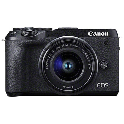 Canon EOS M6 Mk II Mirrorless Camera With 15-45mm Lens Kit - Black
