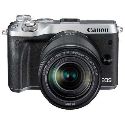 Canon EOS M6 Mirrorless Body With EF-M 18-150mm IS STM Lens Silver