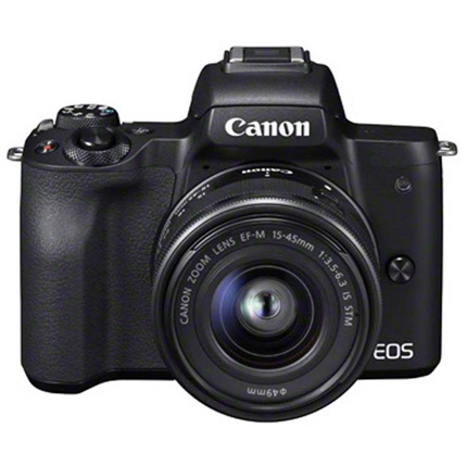 Canon EOS M50 Mirrorless Camera With EF-M 15-45mm IS STM Lens Black